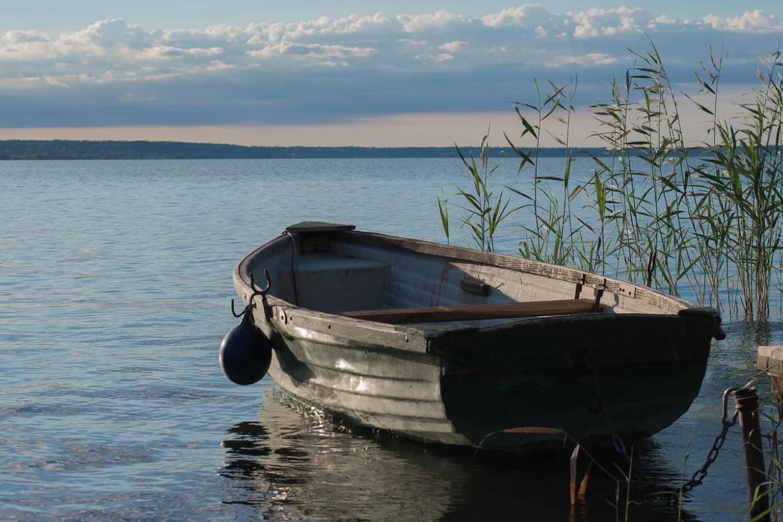 na břehu Balatonu